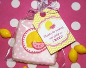PInk Lemonade Thank You Tags Birthday Party  PRINTABLE Hanging Tags Pink yellow favors treats lemons  INSTANT DOWNLOAD diy