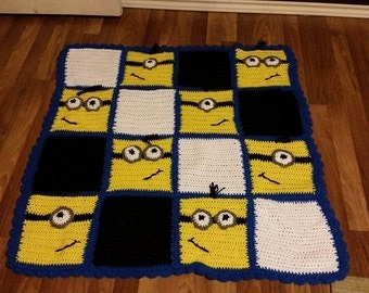Minion inspired blanket