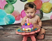 """8 """" OR 10"""" Cake Stand Cake Smash Stand Prop Cake Smash Prop Birthday Decor Smash Cake Stand First Birthday Wooden Cake Stand Baby"""