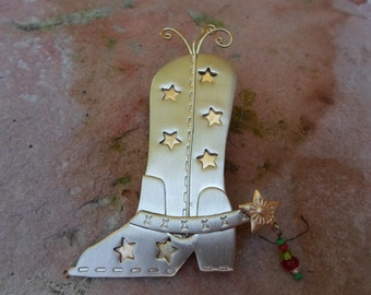 Cowgirl  Boot Brooch