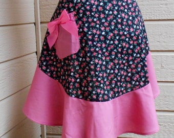 Pretty In Pink Flounced Hostess Apron