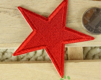 Iron on Fabric Patch - Red Star - FP66