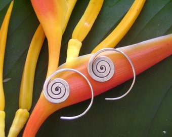 Spiral Silver Earrings - The Beginning of Life(5)