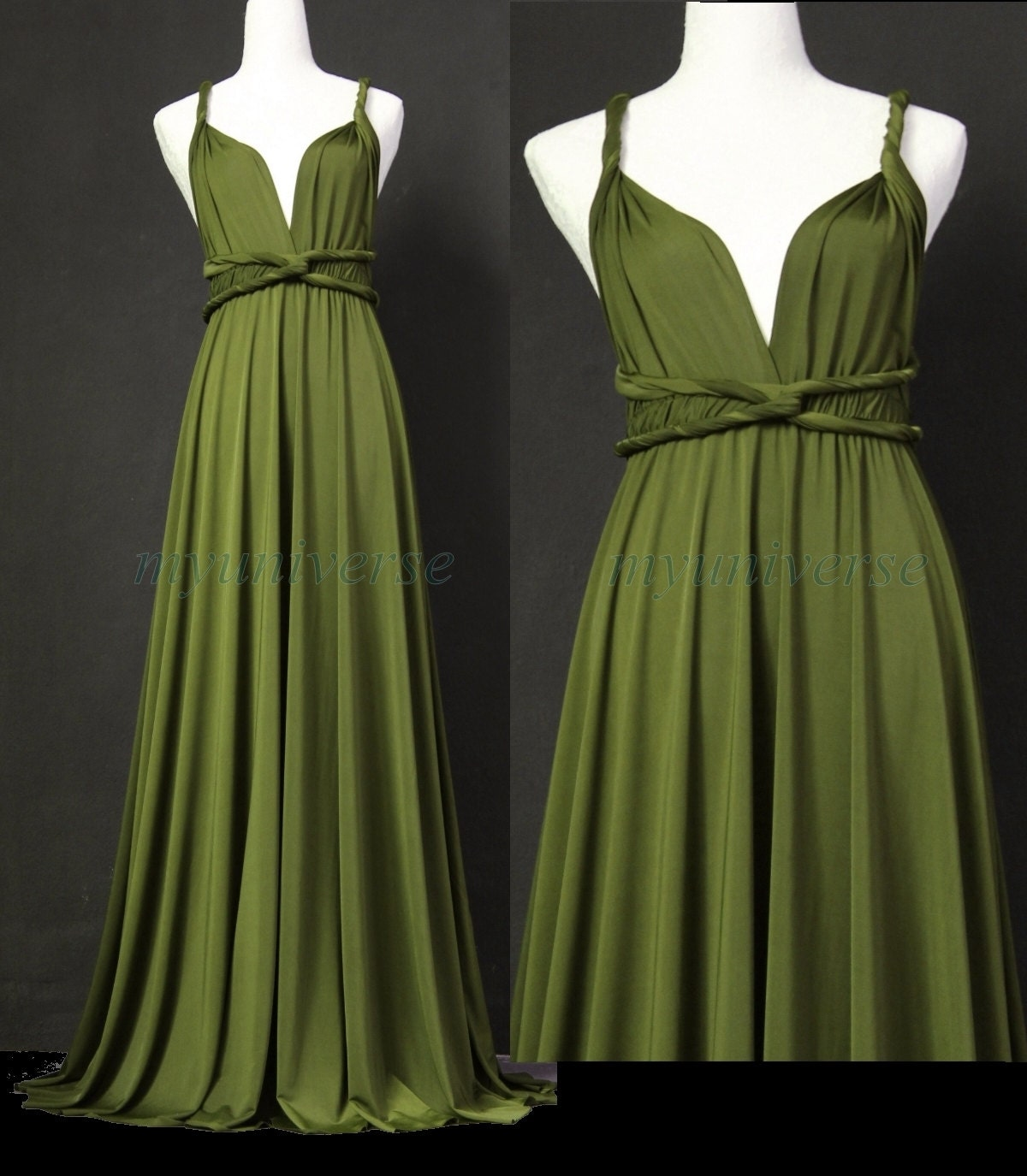 Sage bridesmaid dress olive green infinity dress wrap for Dresses for wedding bridesmaid