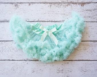 Pettiskirt - Tutu - Petticoat - baby tutu- Skirt - Kids - Pettiskirt - Aqua pettiSkirt - Newborn Photo Prop -Baby pettiskirt - Baby Tutu