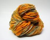 Thick Thin Merino Handspun Wool Yarn tts (tm) Hand Dyed Yarn miniLR 23b *Reduced 2nd Shipping*