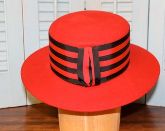 Gorgeous Red Michael Howard Hat 100% wool