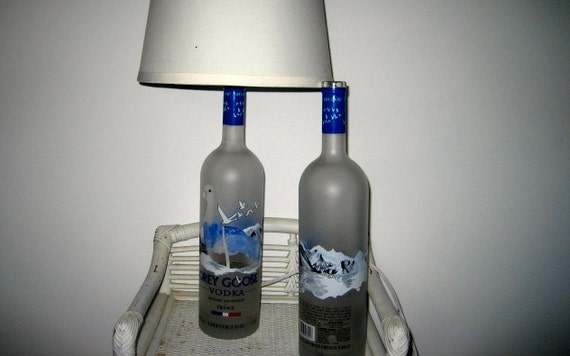 Hole Drilled Liquor Bottle DIY Lamps or Lights by ...