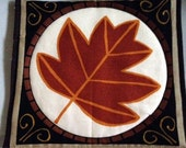 CLEARANCE Mug Rug/ Coaster 6 x 6 1/2 cotton print, quilted - washable FREE SHIPPING on 2 or more!*