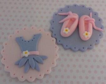 Ballerina Edible Cupcake Toppers set of 12