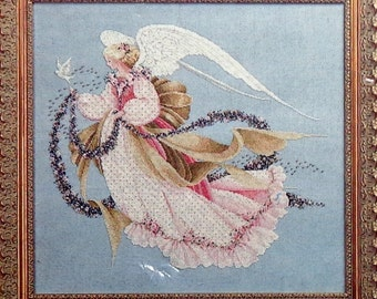Marilyn Leavitt Imblum ANGEL OF SUMMER By Lavender & Lace - Counted Cross Stitch Pattern Chart