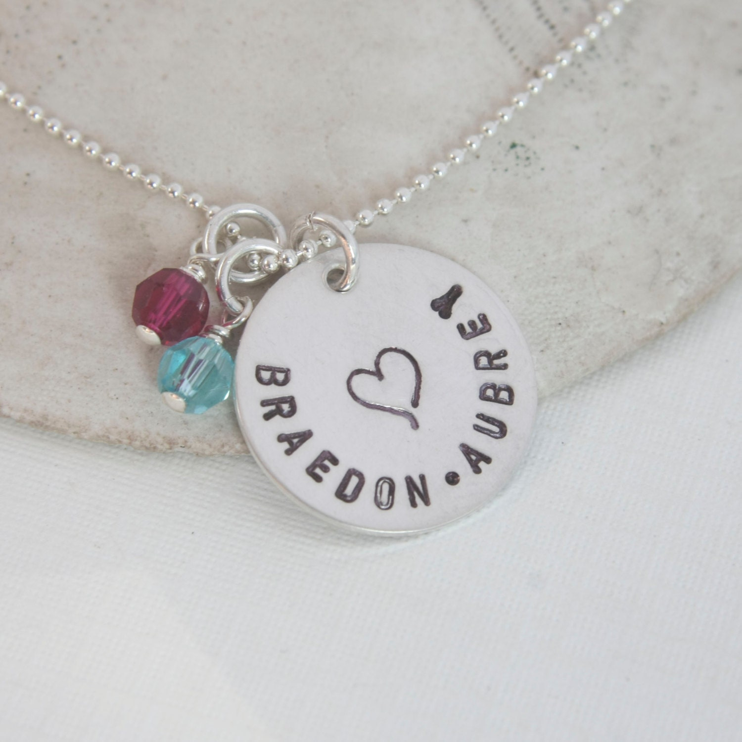 baby name necklace necklace family name by