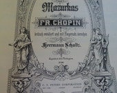 Vintage Sheet music 152 pages Chopin Mazurkas altered art crafts banners Free shipping