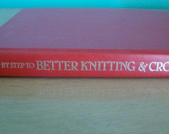 Knitting and Crochet Book,  Hardback Lessons Patterns, Knit Crochet Patterns, Knit Crochet lessons