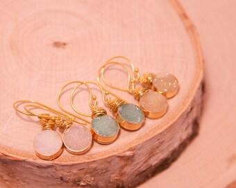 Druzy Earrings, Wedding Party Druzy, Wedding Party Earrings, Druzy Jewelry, Sparkling Jewelry, Sparkling Druzy Jewelry, Bridal Jewelry,Druzy