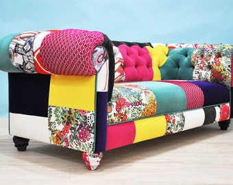 velvet patch chesterfield patchwork sofa by namedesignstudio. Black Bedroom Furniture Sets. Home Design Ideas