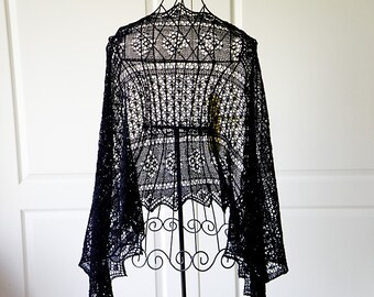 """Pattern for rectangle lace shawl """"Lenja"""""""