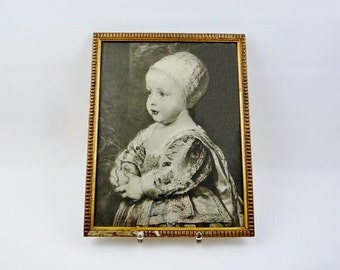 SALE 20% OFF // Ancient Vintage Framed Print of a Baby