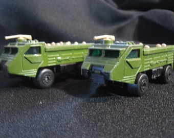 Vintage Lesney Matchbox Army Truck Personnel Carrier Set of 2 No. 84