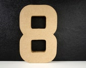 DIY Paper Mache Number Eight 8 (8 inches tall) - Ready to Decorate Blank Number | Home Decor | DIY Wedding Table Number