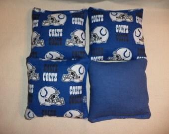 Cornhole Bags Indianapolis Colts Corn hole Bean bags 4 Colts bean bags ACA Regulation size