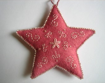 rose star ornament