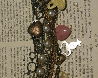 Heart and Key Charm Bracelet