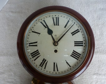 Wall Clock, English GPO, 10 Inch Dial, 8 Day Fusee Movement, Circa Early 20Th Century