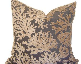 Velvet Pillows - Tan Velvet Pillow - Decorative Pillow Cover - Velvet Lumbar Pillow - Velvet Pillows - Nautical Pillow - PILLOW COVER ONLY