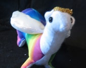 Rainbow Ferret with Wings and Halo