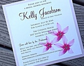 Hawaiian Purple Plumeria Square Bridal Shower Invitation