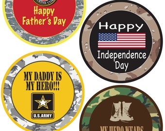 ADD ON Monthly Bodysuit Stickers - Military Pride