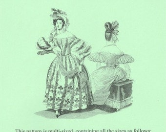 TV455 - Truly Victorian #455, 1830s Romantic Era Dress Sewing Pattern