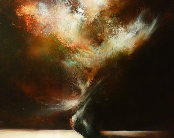 """Large Canvas Abstract Oil Painting by Simon Kenny """"Verve"""""""