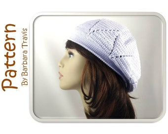 Crochet Pattern Diamond Design Slouch Beret