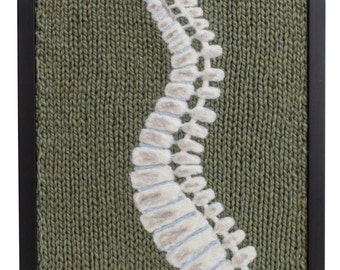 The Curve of Your Spine: Knitted anatomical art