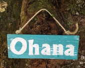 Painted Ohana Sign