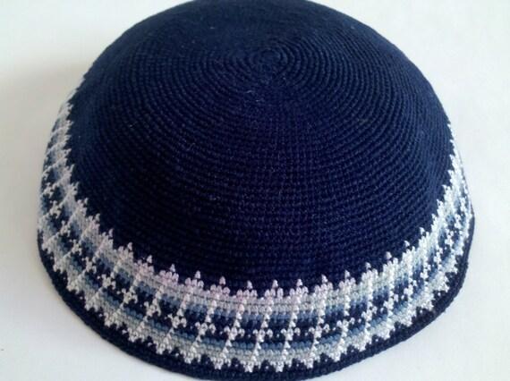 Kippah Jewish Kipa Hand Knit Kippot Vog 20cm Judaica Crochet Yarmulke ...