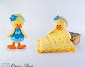 Combo Pack - Duck Lovey and Amigurumi Set for 5.99 Dollars - PDF Crochet Pattern - Instant Download - Special Offer Pattern Pack Animal