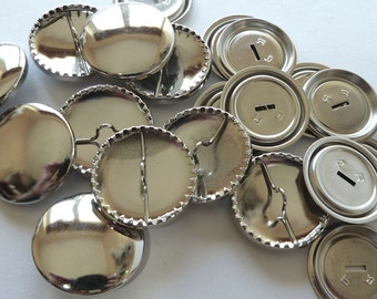 10 x 29mm Metal Self Cover Buttons