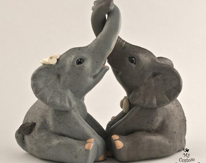 Elephants Love Wedding Cake Topper