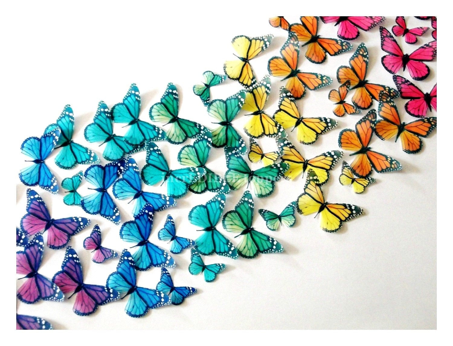 Wedding Cake Topper EDIBLE BUTTERFLIES by incrEDIBLEtoppers