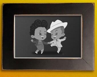 Frankie & Lucille - Lindy Hop MiniPrint