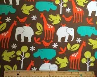 Zoology FLANNEL Fabric YARD