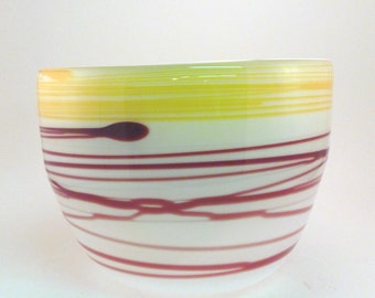Red and Yellow Abstract Wrap Bowl