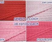 Select 1 pack (18 yards) Lace Trim, Colorful trim, Rainbow Trim, Trim lot, Crochet Lace Trim, Cotton Lace Trim, Lace Trim, Wholesale lace