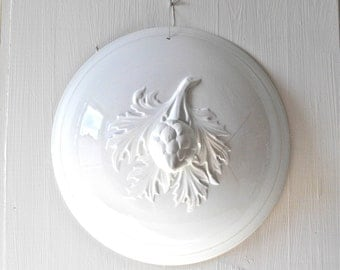 French Antique Wall Decoration - Decorative Ceramic White - Wall Hanging
