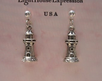 Rustic Light House Earrings