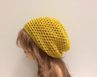 Crochet Slouchy Hat - MUSTURD