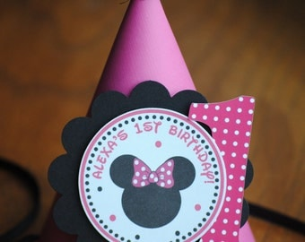 NEW - Minnie Mouse Birthday Hat